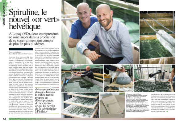 Article iIlustré Spiruline
