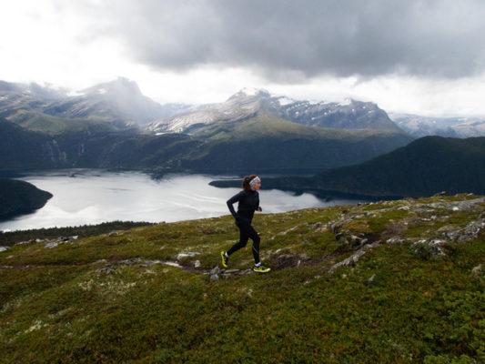 Amélie Bertschy course de Montagne