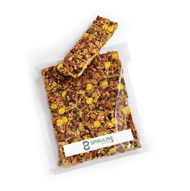 Barre de céréales à la spiruline Suisse