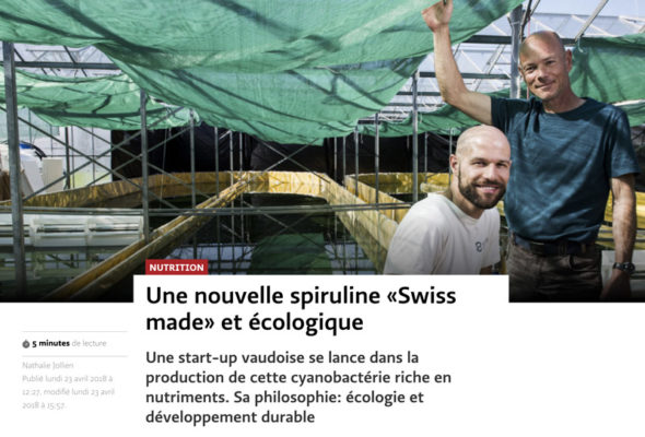 Article Le Temps avril 2018