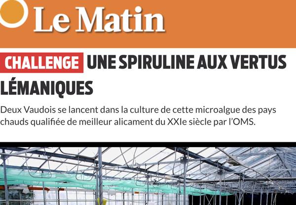 Article Le Matin Mai 2018