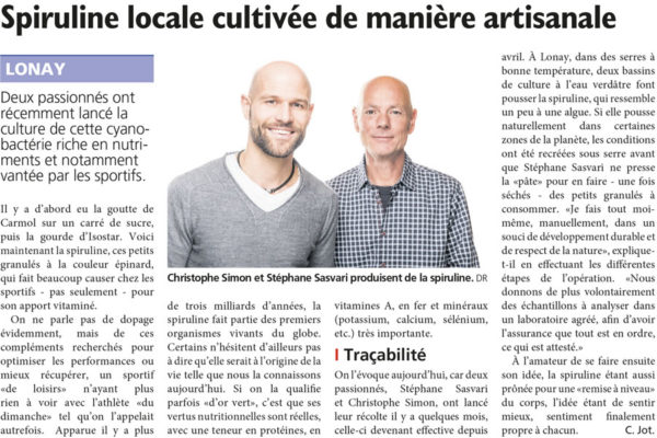 Article Spiruline Swiss Made journal de Morges
