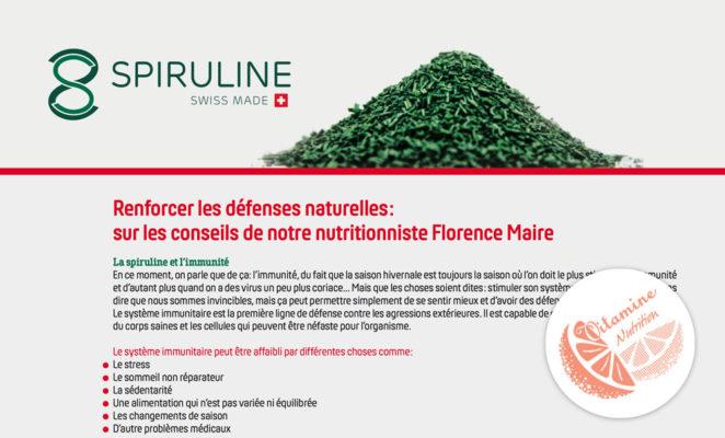 Article de Florence Maire sur la spiruline