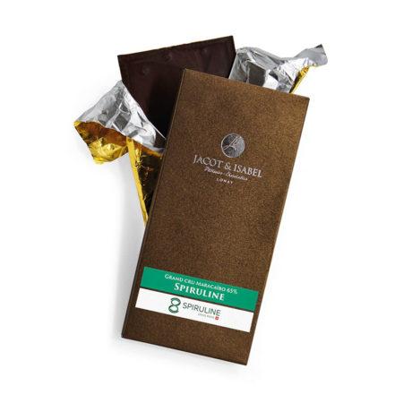 Plaque de chocolat à la spiruline Suisse